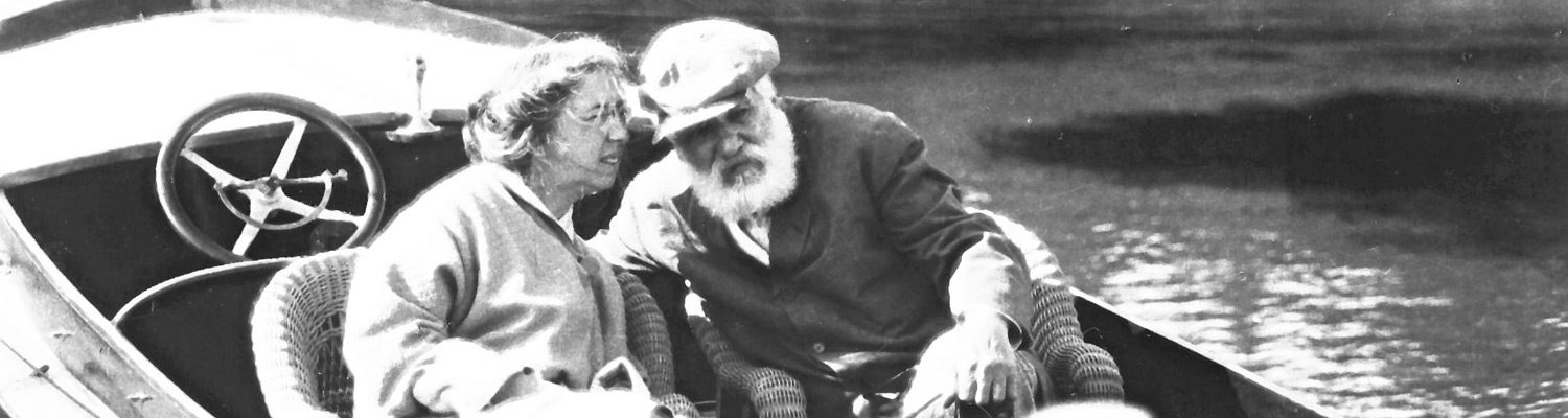 Alexander and Mabel Bell in a Boat